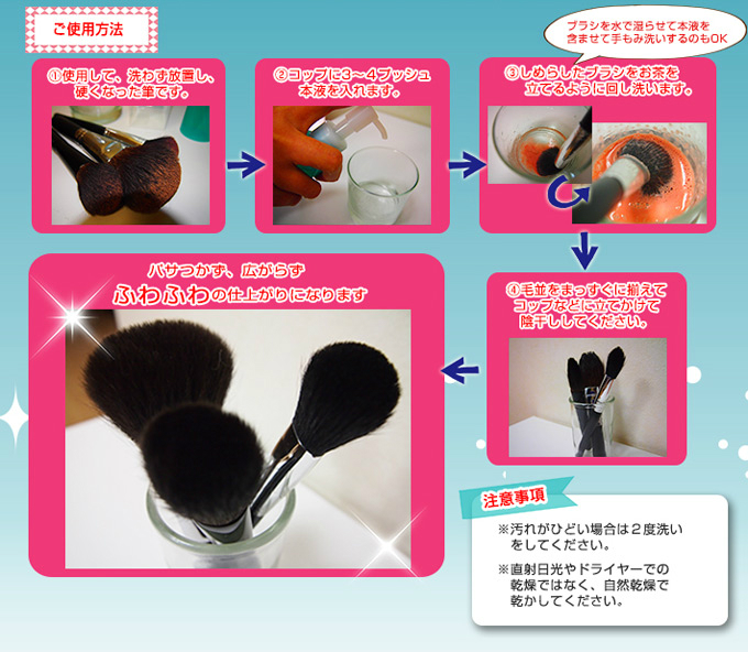 化粧筆専用シャンプー 筆シャンプラス【匠の化粧筆コスメ堂